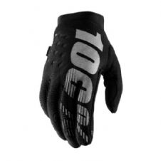 100% 2019 Brisker Cold Weather Glove Black Grey